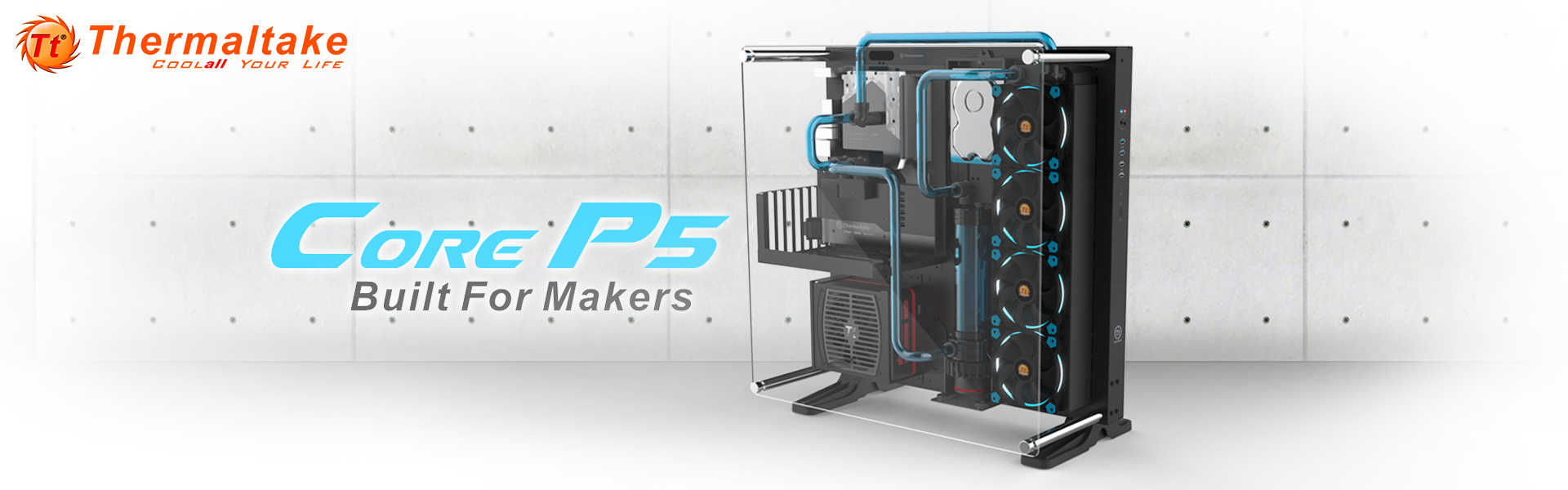 Thermaltake New Core P5 ATX Wall Mount Panoramic Viewing ...